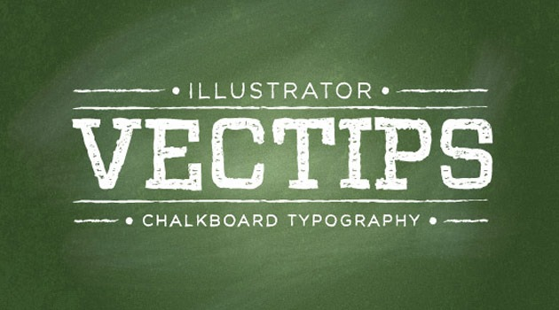 chalkboard effect 25 Fresh new illustrator tutorials from 2015