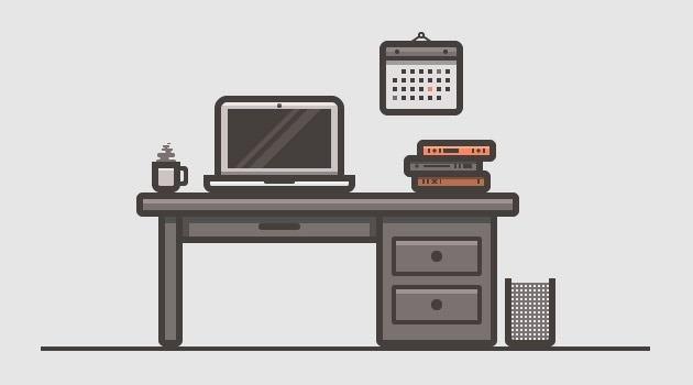 desk 25 Fresh new illustrator tutorials from 2015