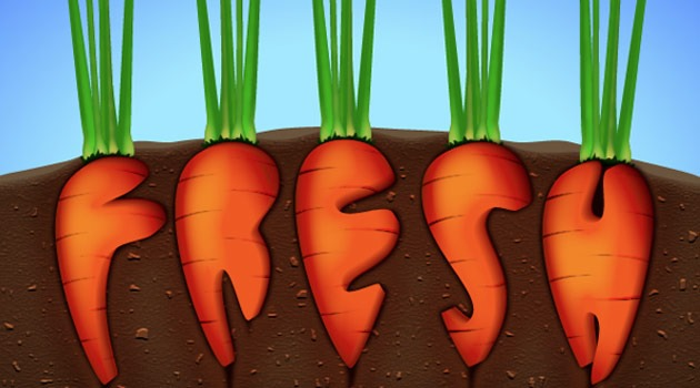 fresh carrot 25 Fresh new illustrator tutorials from 2015