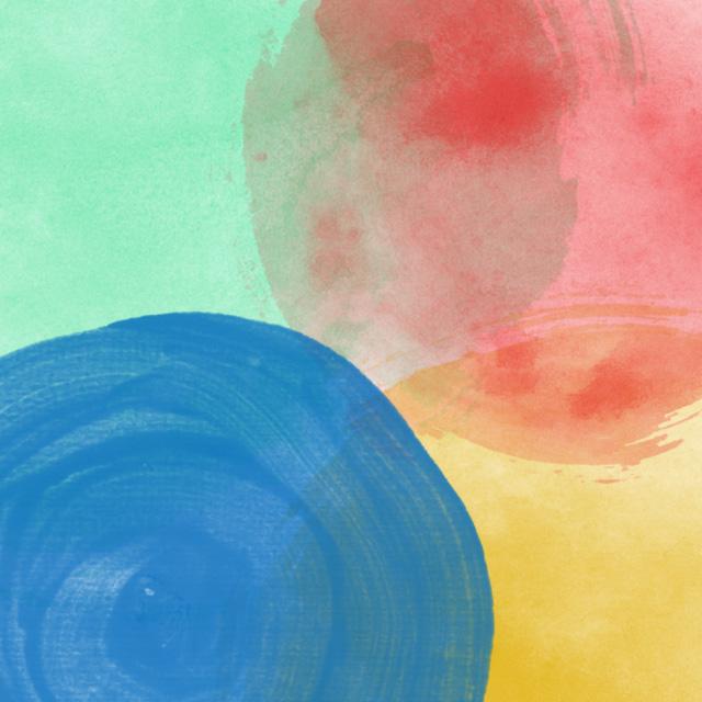 circular watercolor blob brushes1 Watercolor circular free blob Photoshop brush set