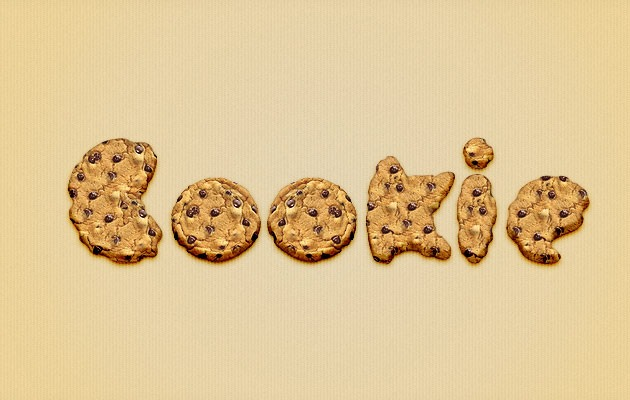 cookie 50 amazing modern Photoshop text effect tutorials