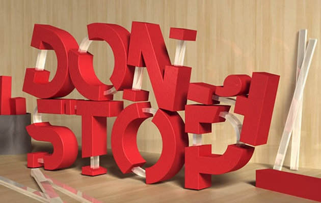 dont stop 50 amazing modern Photoshop text effect tutorials