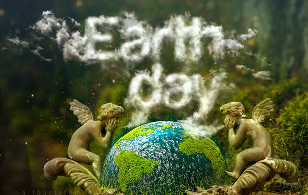 earth day thumb 50 amazing modern Photoshop text effect tutorials