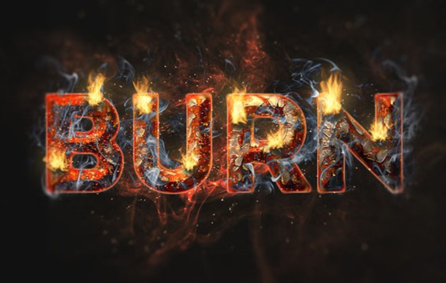 flame text effect 50 amazing modern Photoshop text effect tutorials