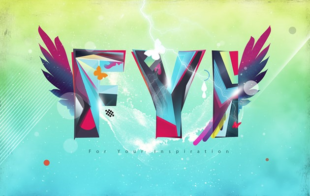 fly 50 amazing modern Photoshop text effect tutorials