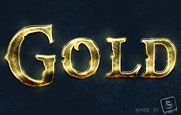 gold text effect thumb 50 amazing modern Photoshop text effect tutorials