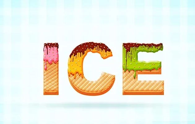 icecream text effect thumb 50 amazing modern Photoshop text effect tutorials