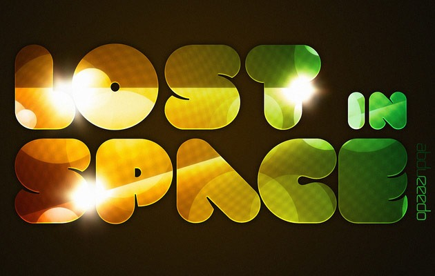 lost in space 50 amazing modern Photoshop text effect tutorials