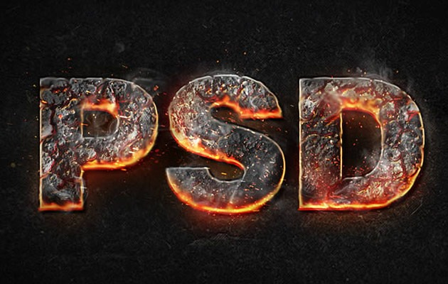 magma text effect 50 amazing modern Photoshop text effect tutorials