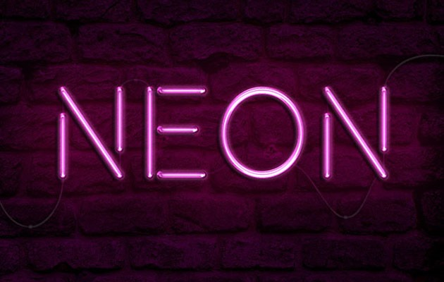 neon text effect 50 amazing modern Photoshop text effect tutorials