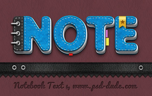 notebook thumb 50 amazing modern Photoshop text effect tutorials