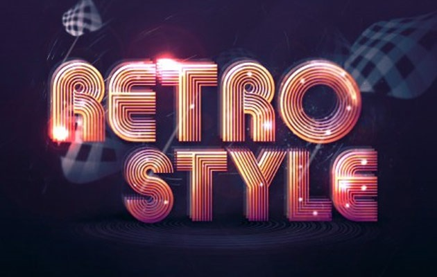 retro style 50 amazing modern Photoshop text effect tutorials