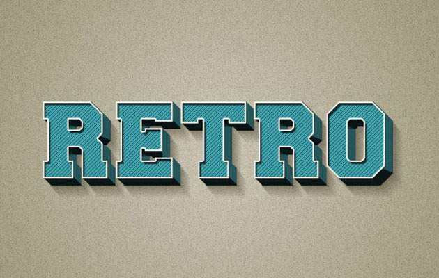 retro text effect thumb 50 amazing modern Photoshop text effect tutorials