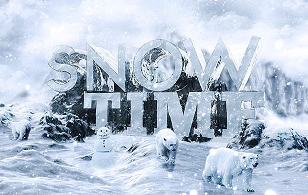 snow text 50 amazing modern Photoshop text effect tutorials