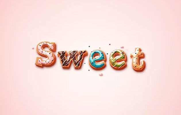 sweet text effect thumb 50 amazing modern Photoshop text effect tutorials