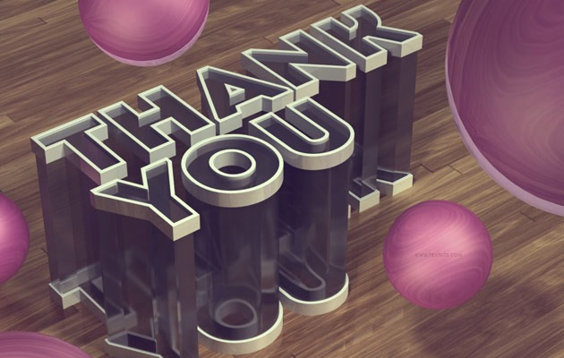 thank you 50 amazing modern Photoshop text effect tutorials