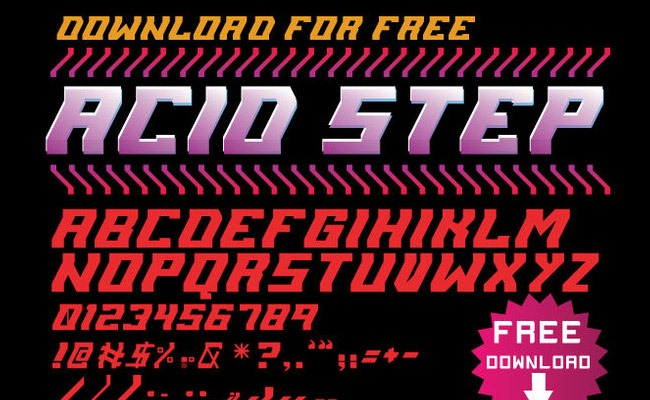 acid step 30 Creative and unique free fonts to use in your designs