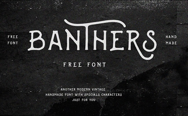 banthers 30 Creative and unique free fonts to use in your designs