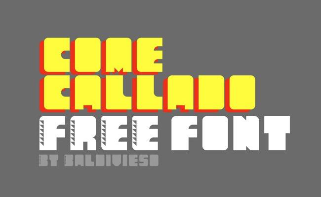 come callado 30 Creative and unique free fonts to use in your designs