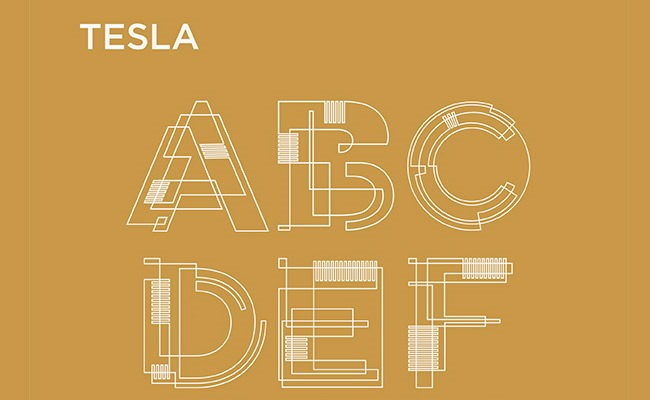 tesla 30 Creative and unique free fonts to use in your designs