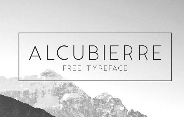 alcubre 40 Best free fonts from 2015