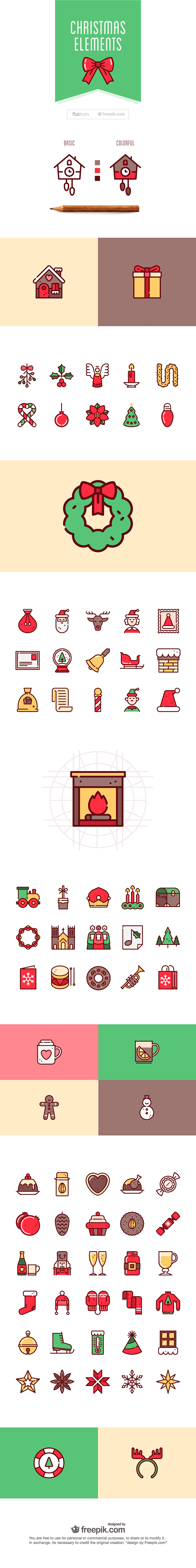christmas elements 75+ free Christmas vector icons