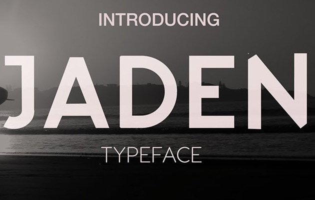 jaden thumb 40 Best free fonts from 2015