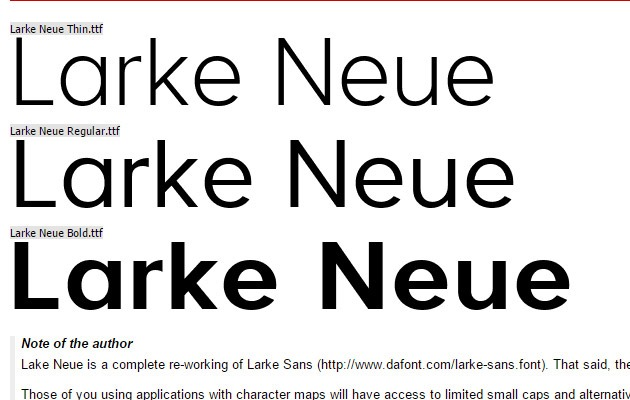 lark neue thumb 40 Best free fonts from 2015