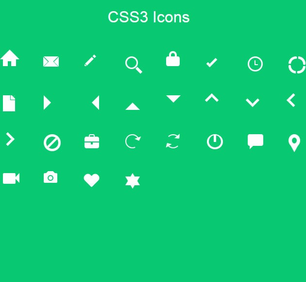css3 icons 20 free CSS icon sets for Web Designers