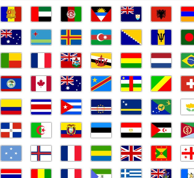 flag icons thumb1 20 free CSS icon sets for Web Designers