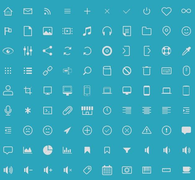 icono 20 free CSS icon sets for Web Designers