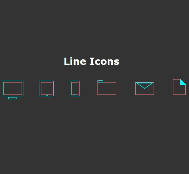 line icons 20 free CSS icon sets for Web Designers