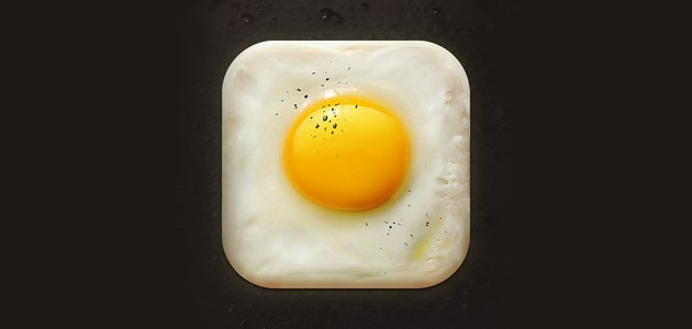 fried egg icon 25 Amazing IOS icon designs