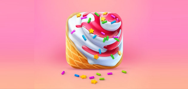 icecream icon 25 Amazing IOS icon designs