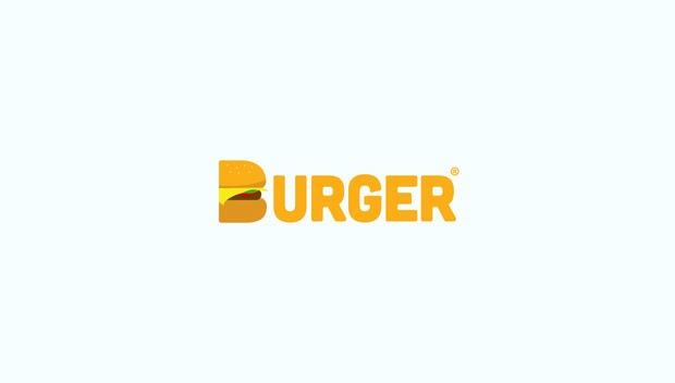 burger logo 20 Creative flat modern logo designs