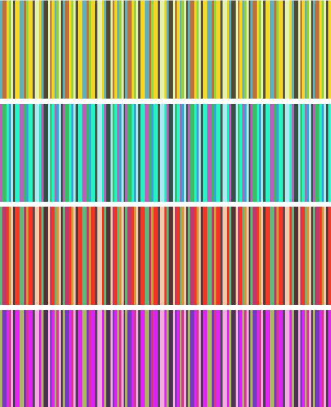 horizental stripes pattern Vertical stripes free seamless vector pattern set
