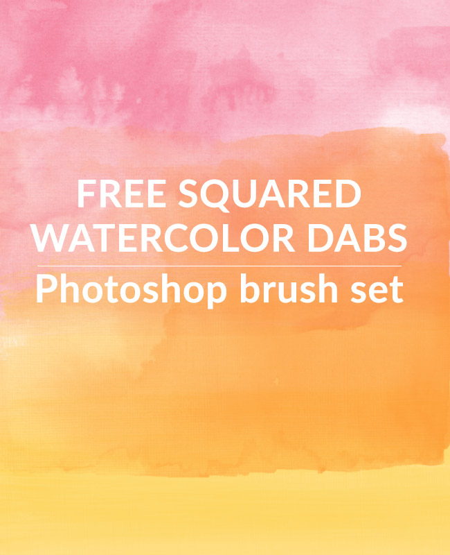 squared watercolor paint dabs Squared Watercolour paint dabs free Photoshop brush set