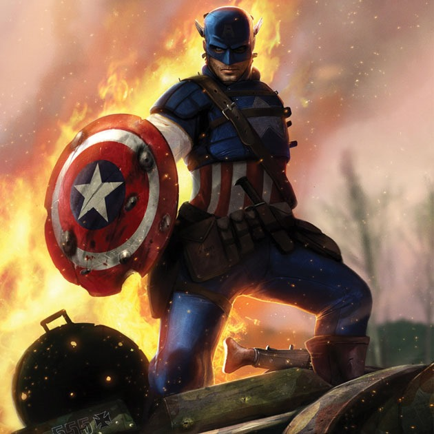 capin america by dan Awesome Captain America illustration showcase