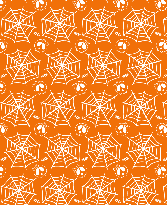 halloween skulls candy and webs Halloween free skulls, candy and web pattern