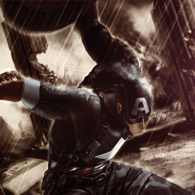 konjur Awesome Captain America illustration showcase