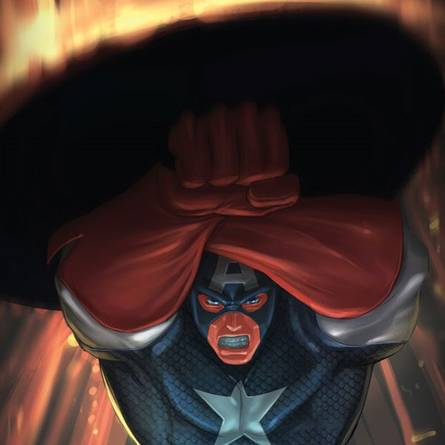 shield cover Awesome Captain America illustration showcase