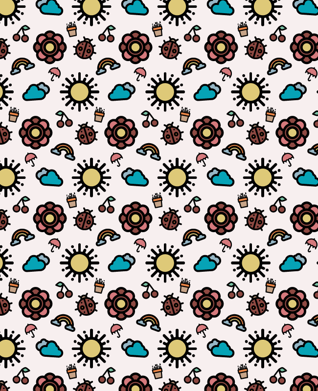 spring pattern 1 Creative spring free seamless vector pattern