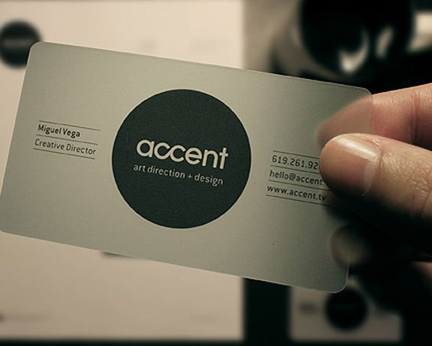 accent 100 Must see creative unique business card designs
