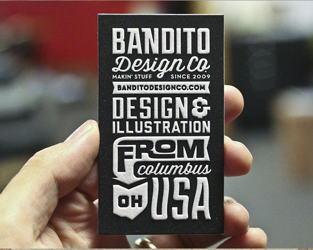 bandito 100 Must see creative unique business card designs