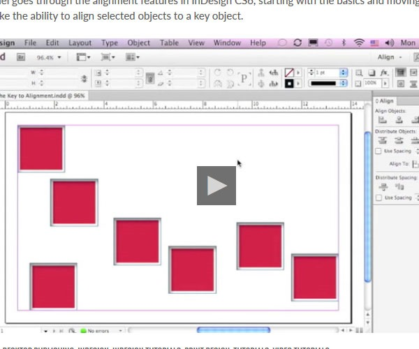 keys to alignment 60 best tutorials for learning InDesign