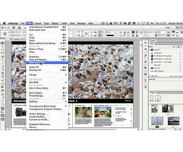 place and link 60 best tutorials for learning InDesign