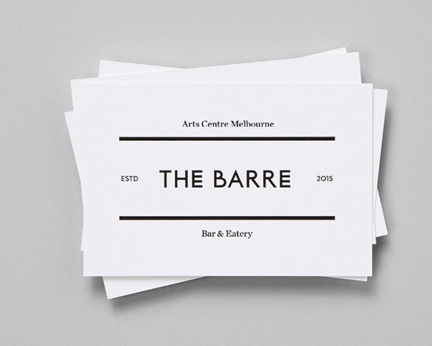 the barre 100 Must see creative unique business card designs