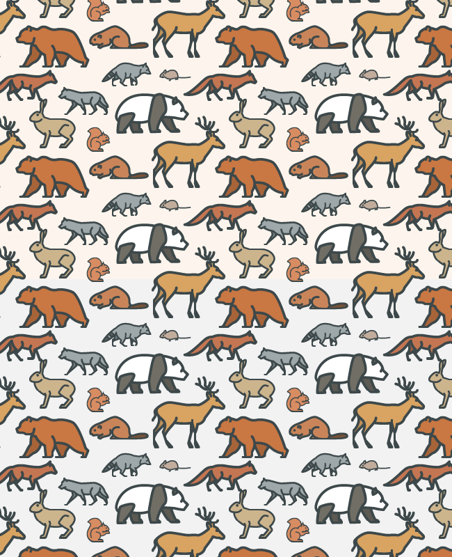 wild animal pattern Cute wild animals free seamless vector pattern