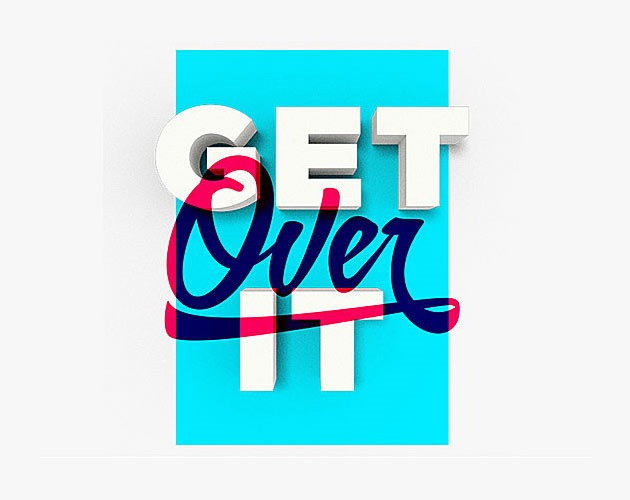 get over it 50 beautiful must see examples of creative typography
