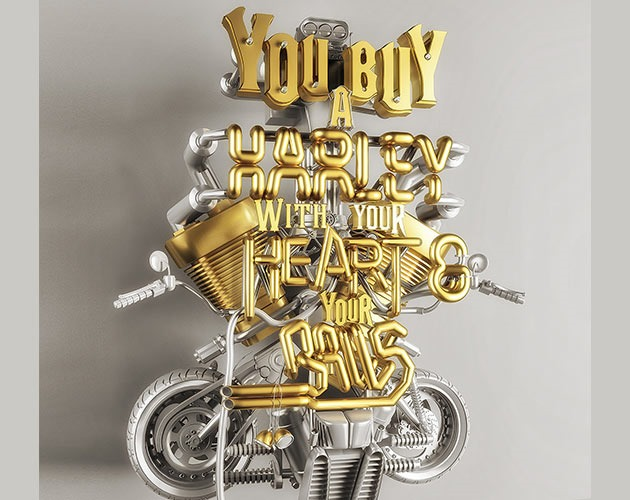 harley davidson 50 beautiful must see examples of creative typography